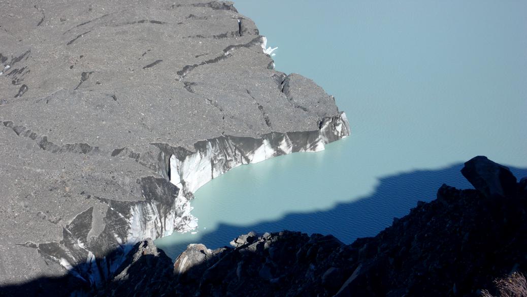 ...da wo der Gletscher kalbt