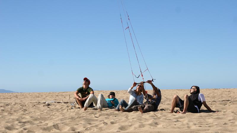 unser kleines Kitesurf Camp