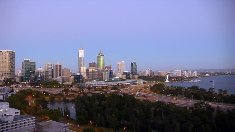 Perth Skyline vom Kingspark aus