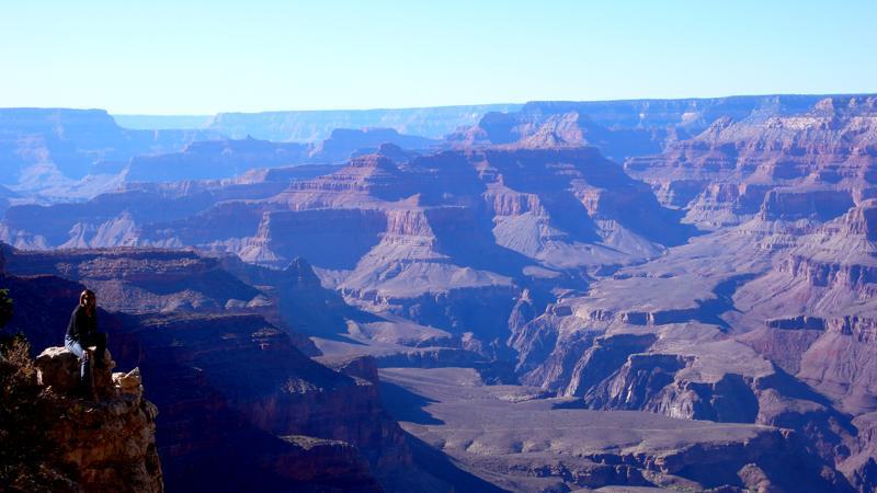 Amanda am Abgrund ;-) -Grand Canyon