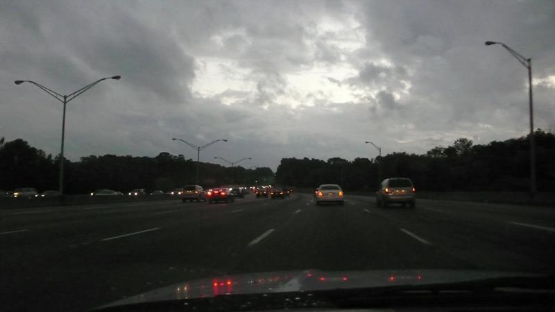 ganz schön was los in Atlanta!  7 Spuren!!!