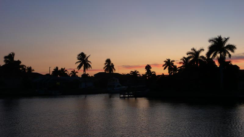 Sunset von der Terassse aus