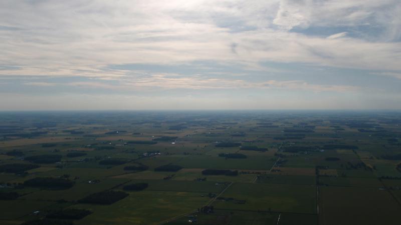 die Aussicht von ca. 1000m Höhe
